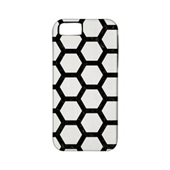 Hexagon2 Black Marble & White Linen Apple Iphone 5 Classic Hardshell Case (pc+silicone)