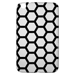 Hexagon2 Black Marble & White Linen Samsung Galaxy Tab 3 (8 ) T3100 Hardshell Case