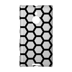 Hexagon2 Black Marble & White Linen Nokia Lumia 1520