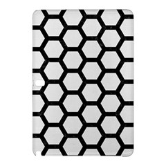 Hexagon2 Black Marble & White Linen Samsung Galaxy Tab Pro 12 2 Hardshell Case