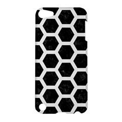 Hexagon2 Black Marble & White Linen (r) Apple Ipod Touch 5 Hardshell Case
