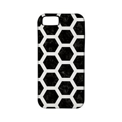 Hexagon2 Black Marble & White Linen (r) Apple Iphone 5 Classic Hardshell Case (pc+silicone)