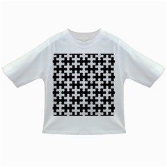 Puzzle1 Black Marble & White Linen Infant/toddler T Shirts