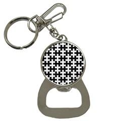 Puzzle1 Black Marble & White Linen Button Necklaces