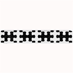 Puzzle1 Black Marble & White Linen Small Bar Mats