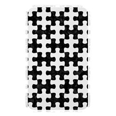 Puzzle1 Black Marble & White Linen Memory Card Reader
