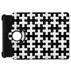 Puzzle1 Black Marble & White Linen Kindle Fire Hd 7