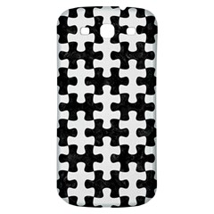 Puzzle1 Black Marble & White Linen Samsung Galaxy S3 S Iii Classic Hardshell Back Case