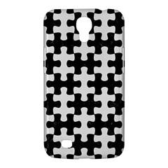 Puzzle1 Black Marble & White Linen Samsung Galaxy Mega 6 3  I9200 Hardshell Case