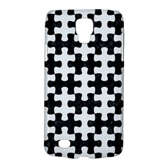 Puzzle1 Black Marble & White Linen Galaxy S4 Active
