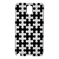 Puzzle1 Black Marble & White Linen Samsung Galaxy Note 3 N9005 Hardshell Case