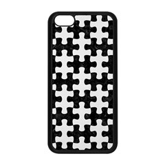 Puzzle1 Black Marble & White Linen Apple Iphone 5c Seamless Case (black)