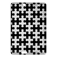 Puzzle1 Black Marble & White Linen Amazon Kindle Fire Hd (2013) Hardshell Case