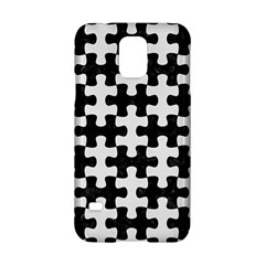 Puzzle1 Black Marble & White Linen Samsung Galaxy S5 Hardshell Case