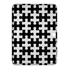 Puzzle1 Black Marble & White Linen Samsung Galaxy Tab 4 (10 1 ) Hardshell Case