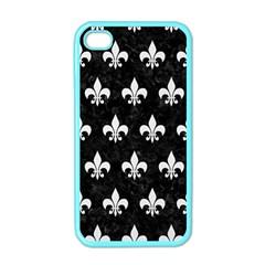 Royal1 Black Marble & White Linen Apple Iphone 4 Case (color)