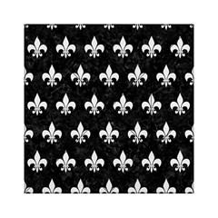Royal1 Black Marble & White Linen Acrylic Tangram Puzzle (6  X 6 )