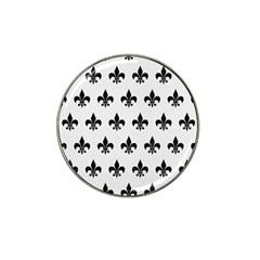 Royal1 Black Marble & White Linen (r) Hat Clip Ball Marker (4 Pack)