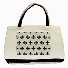 Royal1 Black Marble & White Linen (r) Basic Tote Bag (two Sides)