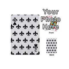 Royal1 Black Marble & White Linen (r) Playing Cards 54 (mini)