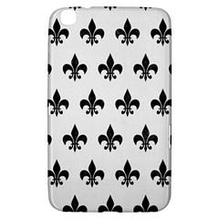 Royal1 Black Marble & White Linen (r) Samsung Galaxy Tab 3 (8 ) T3100 Hardshell Case