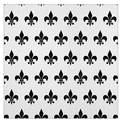 Royal1 Black Marble & White Linen (r) Large Satin Scarf (square)