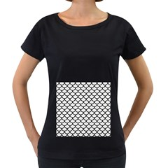 Scales1 Black Marble & White Linen Women s Loose Fit T Shirt (black)