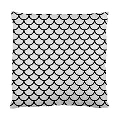 Scales1 Black Marble & White Linen Standard Cushion Case (two Sides)