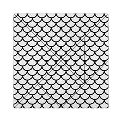 Scales1 Black Marble & White Linen Acrylic Tangram Puzzle (6  X 6 )