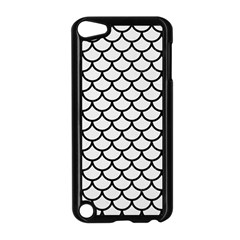 Scales1 Black Marble & White Linen Apple Ipod Touch 5 Case (black)