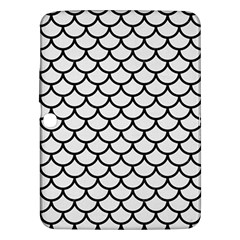 Scales1 Black Marble & White Linen Samsung Galaxy Tab 3 (10 1 ) P5200 Hardshell Case
