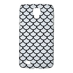 Scales1 Black Marble & White Linen Galaxy S4 Active