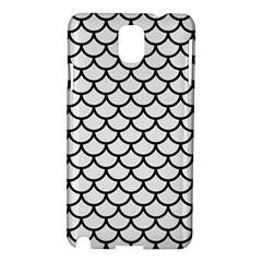 Scales1 Black Marble & White Linen Samsung Galaxy Note 3 N9005 Hardshell Case