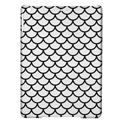 Scales1 Black Marble & White Linen Ipad Air Hardshell Cases