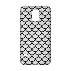 Scales1 Black Marble & White Linen Samsung Galaxy S5 Hardshell Case