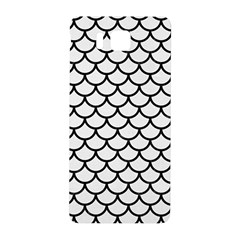 Scales1 Black Marble & White Linen Samsung Galaxy Alpha Hardshell Back Case