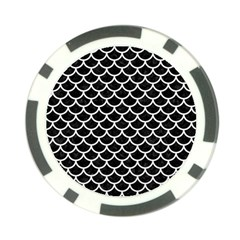 Scales1 Black Marble & White Linen (r) Poker Chip Card Guard