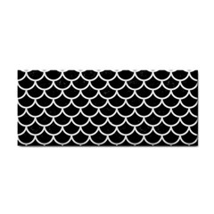 Scales1 Black Marble & White Linen (r) Cosmetic Storage Cases