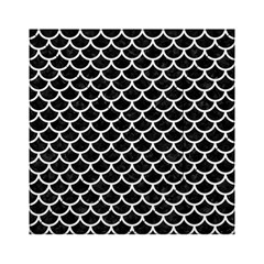 Scales1 Black Marble & White Linen (r) Acrylic Tangram Puzzle (6  X 6 )
