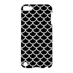 Scales1 Black Marble & White Linen (r) Apple Ipod Touch 5 Hardshell Case