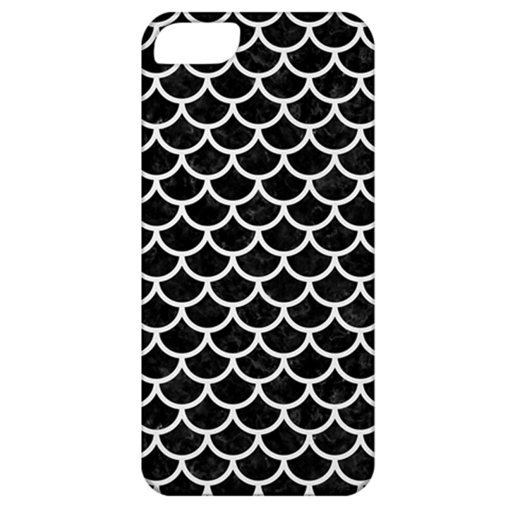 SCALES1 BLACK MARBLE & WHITE LINEN (R) Apple iPhone 5 Classic Hardshell Case