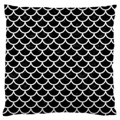 Scales1 Black Marble & White Linen (r) Standard Flano Cushion Case (two Sides)