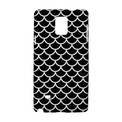 Scales1 Black Marble & White Linen (r) Samsung Galaxy Note 4 Hardshell Case