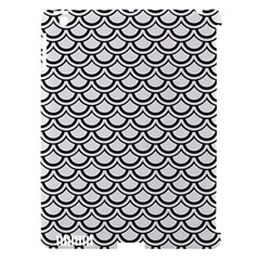 Scales2 Black Marble & White Linen Apple Ipad 3/4 Hardshell Case (compatible With Smart Cover)