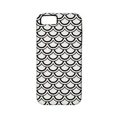 Scales2 Black Marble & White Linen Apple Iphone 5 Classic Hardshell Case (pc+silicone)