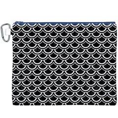 Scales2 Black Marble & White Linen (r) Canvas Cosmetic Bag (xxxl)