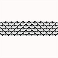 Scales3 Black Marble & White Linen Large Bar Mats