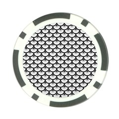 Scales3 Black Marble & White Linen Poker Chip Card Guard