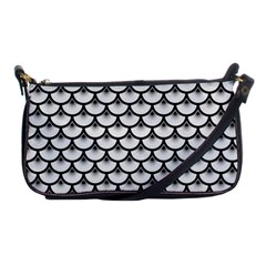 Scales3 Black Marble & White Linen Shoulder Clutch Bags