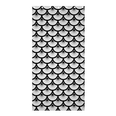 Scales3 Black Marble & White Linen Shower Curtain 36  X 72  (stall)